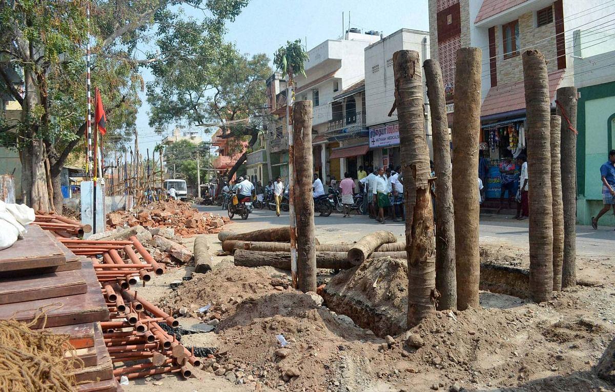 Work stopped at Avaniyapuram in Madurai as SC stays order allowing Jallikattu  on Tuesday. (Photo: PTI)