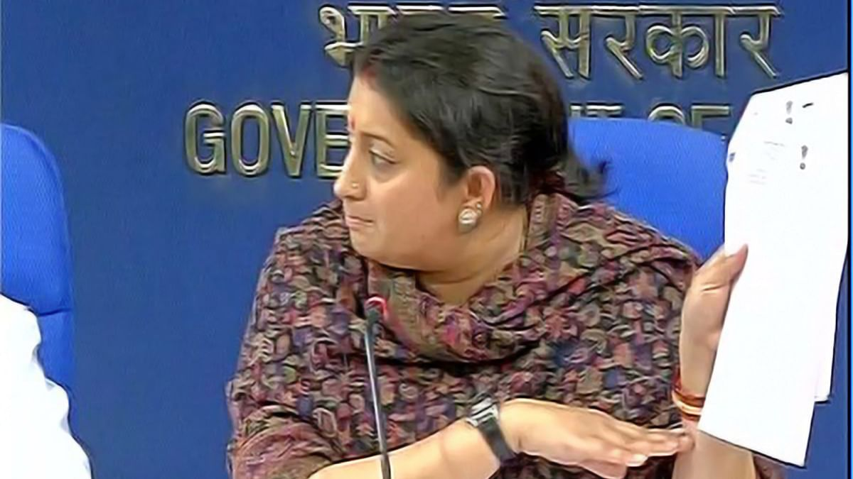 Smriti Irani, Union HRD Minister, addressed Rohith Vemula's suicide in a press conference held on Wednesday. (Photo courtesy: ANI)