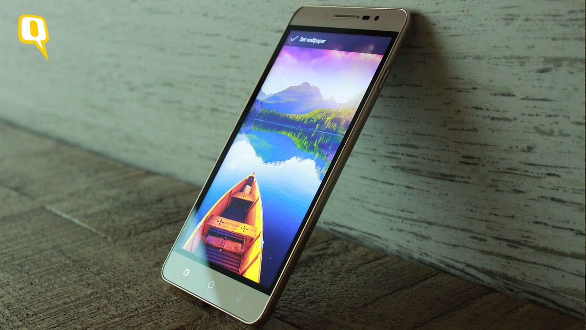 The stand-out feature on the Panasonic Eluga Mark is the inclusion of a fingerprint scanner at a very affordable price. (Photo: <b>The Quint</b>)