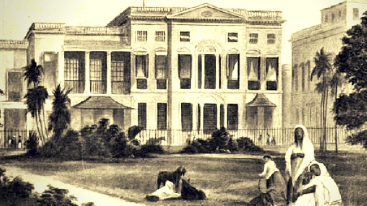 "John Gilchrist set up the language training institute at the Fort William College in Calcutta for East India Company recruits. The idea was to help the British administer a complex colony and expand their empire. (Photo Courtesy: <a href=""http://puronokolkata.com/2014/01/23/fort-william-college-the-exchange-calcutta-c1800/"">Purono Kolkata</a>)"