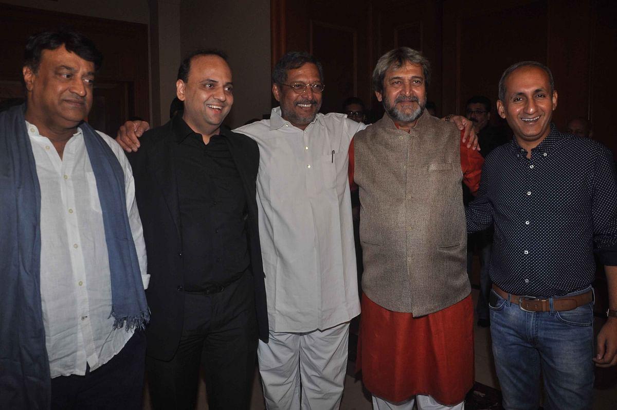 Cast and crew of Marathi fillm <i>Natsamrat</i> (Photo: Yogen Shah)