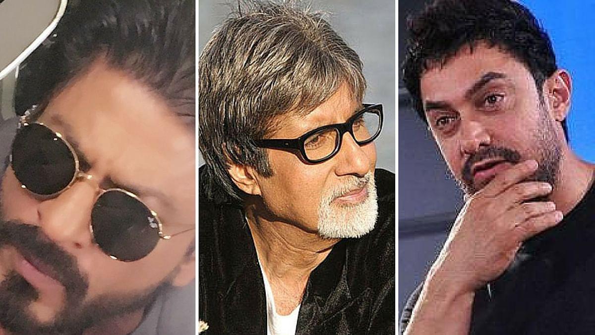 Fans love to see Shah Rukh Khan, Amitabh Bachchan and Aamir Khan sporting a beard. (Photo: <b>The Quint</b>)