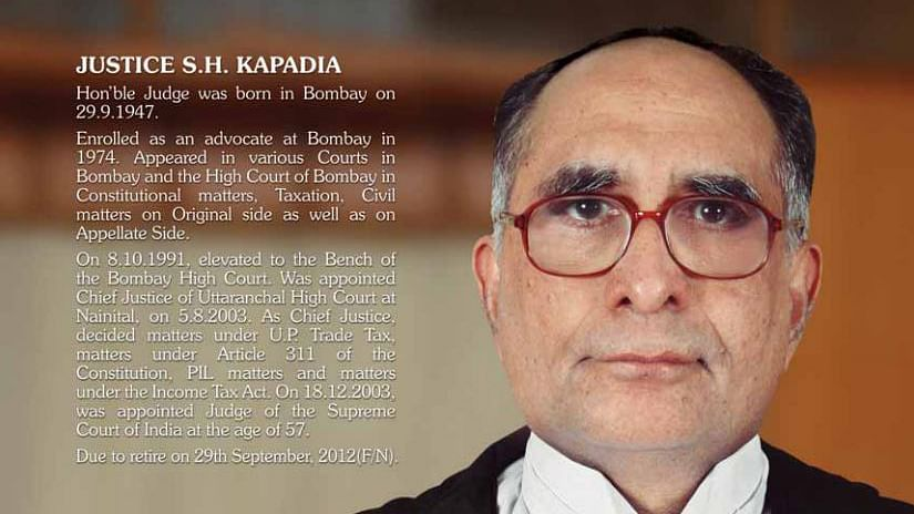"File photo of former Chief Justice, Sarosh Homi Kapadia. (Photo courtesy: <a href=""http://supremecourtofindia.nic.in/"">Supreme Court of India</a>)"