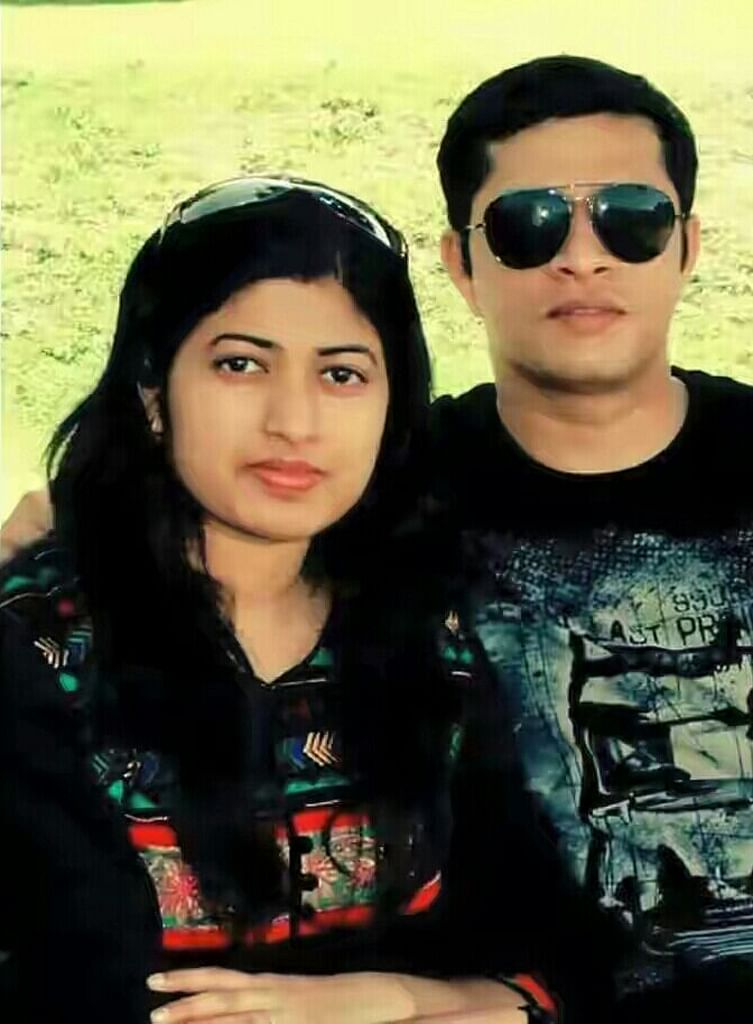 Lt Col EK Niranjan with his wife Radhika. (Photo: IANS)