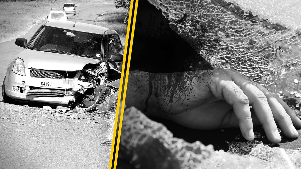 About 400 people die on Indian roads every day, constituting the world's highest fatalities in road accidents. (Photo: Altered by <b>The Quint</b>)