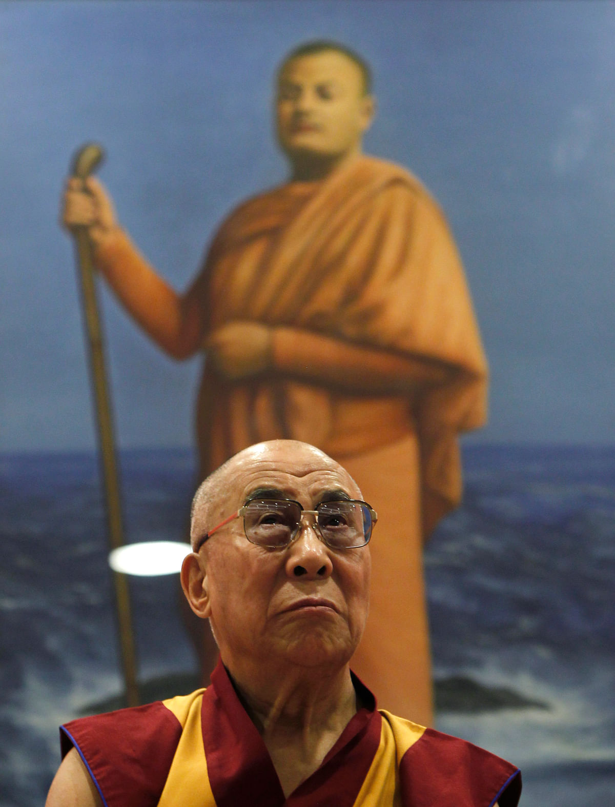 Dalai Lama attends a ceremony marking the birth anniversary celebrations of  Swami Vivekananda in New Delhi September 11, 2012. (Photo: Reuters)
