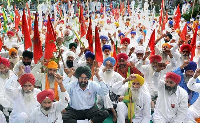 Punjab farmers protesting against Union and State government. (Photo: PTI)