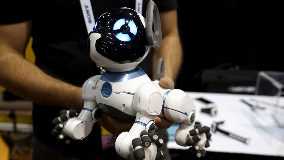 A robotic dog named CHiP by WowWee, described as being able to learn tricks from its owner, is demonstrated at the opening event at the Consumer Electronics Show in Las Vegas January 4, 2016. (Photo: Reuters)