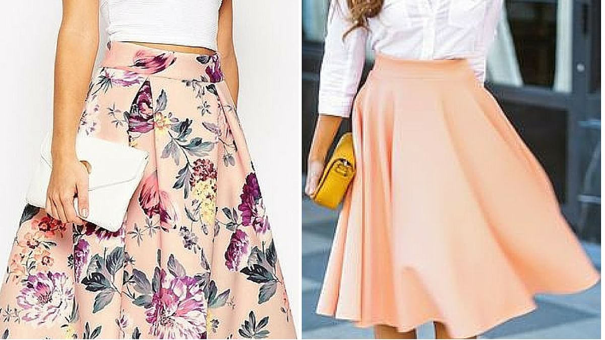 There are few silhouettes as flattering as the A-line mid-length skirt. (Photo Courtesy: Pinterest)