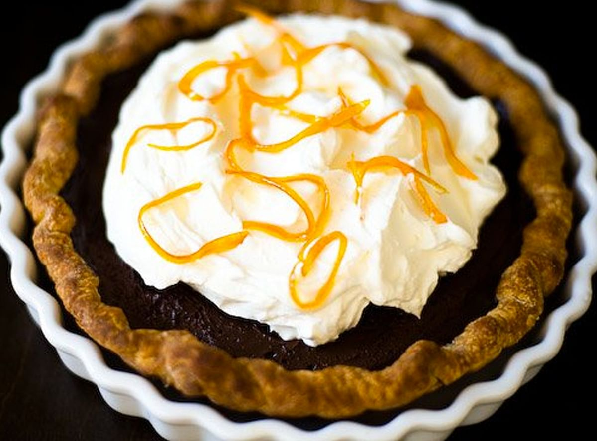 """Oranges add a very distinct exotic flavour which packs quite a punch. (Photo Courtesy: <a href=""""http://sweets.seriouseats.com/2011/12/pie-of-the-week-dark-chocolate-orange-pie.html"""">sweets.seriouseats.com</a>)"""