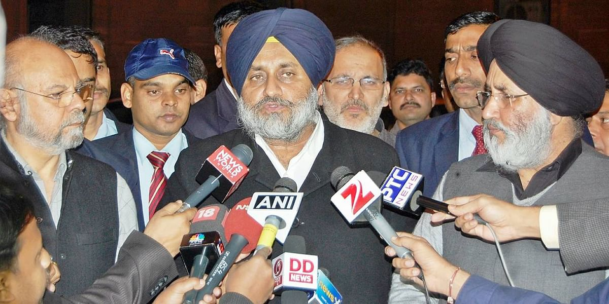 Sukhbir Singh Badal was neither party president nor deputy chief minister at that time. (Photo: IANS)