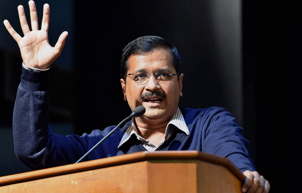 Delhi Chief Minister Arvind Kejriwal addressing at an interaction with Parents seeking admission in private schools (Photo: PTI)