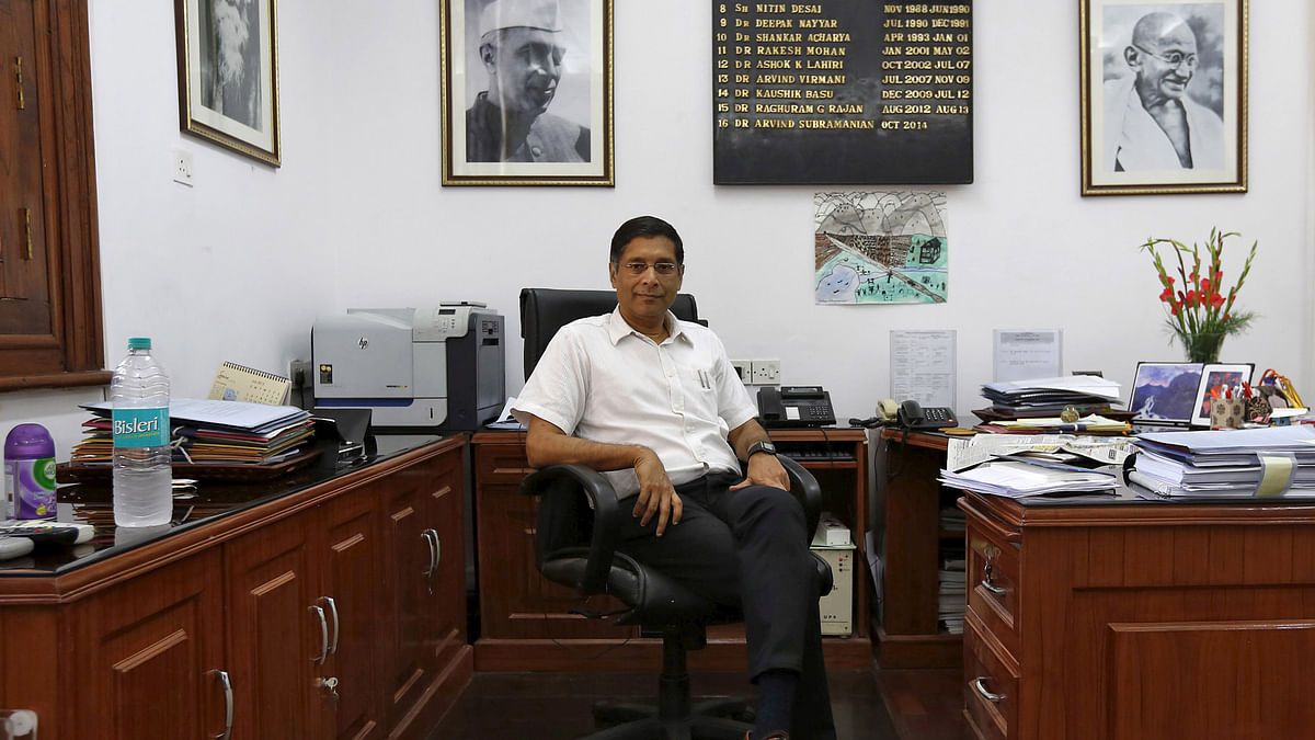 Arvind Subramanian, Chief Economic Adviser at India's Finance Ministry, 2015. The Finance Ministry has lowered 2015-16 GDP growth forecast to 7-7.5%. (Photo: Reuters)