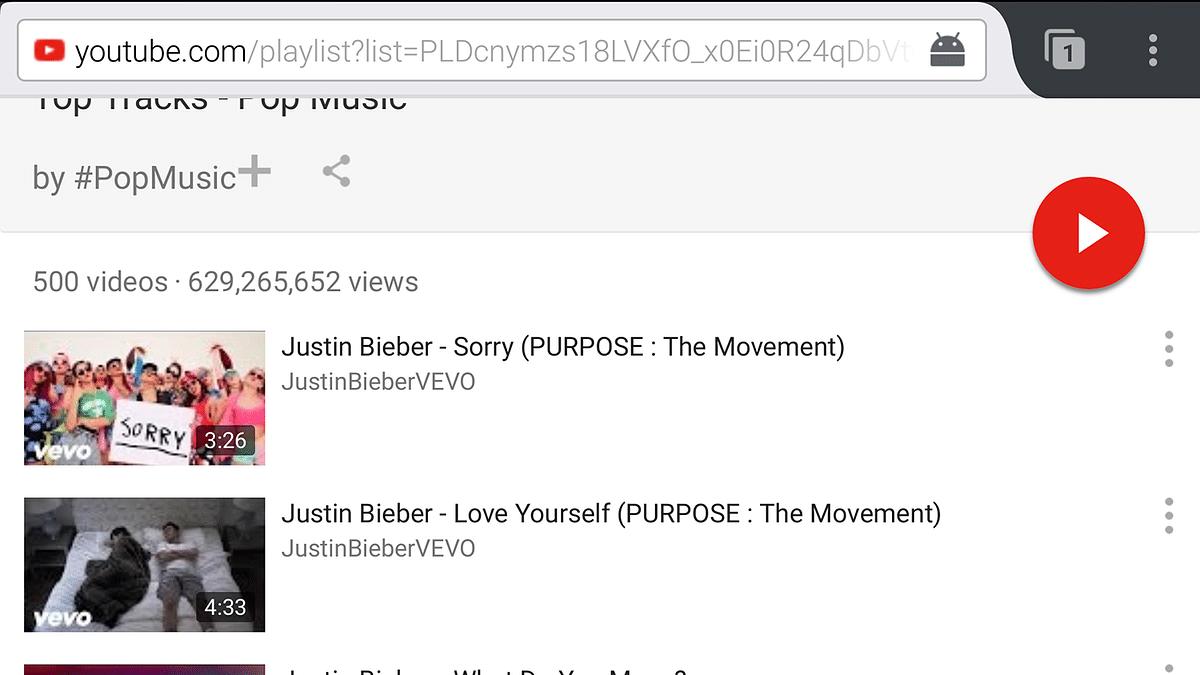 YouTube works like an app on Firefox. (Photo: screengrab)
