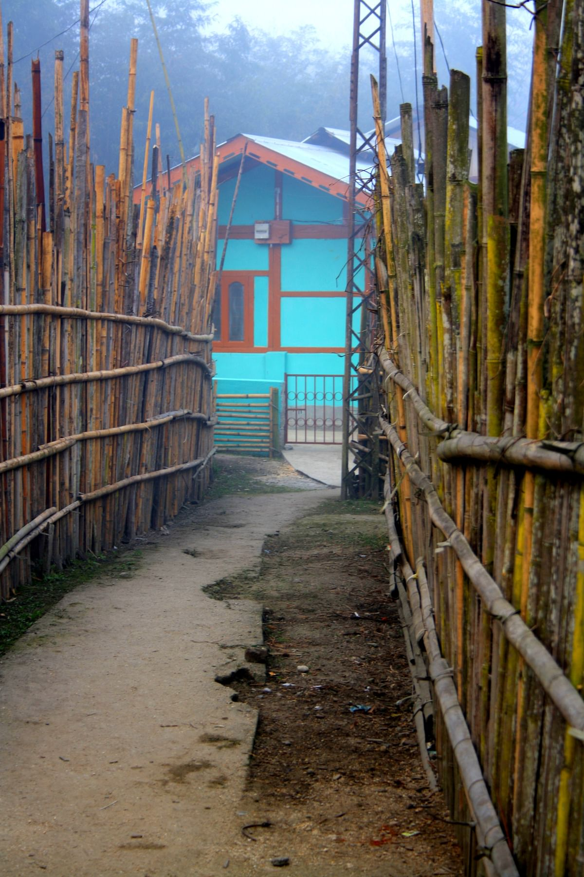 Entering a village inhabited by the Apatanis. (Photo Courtesy: Kushal Chowdhury)