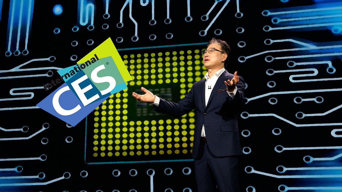 Boo-Keun Yoon, President and CEO of Samsung consumer electronics, speaks during his keynote at the International Consumer Electronics show (CES) in Las Vegas, Nevada January 5, 2015. (Photo: Reuters)