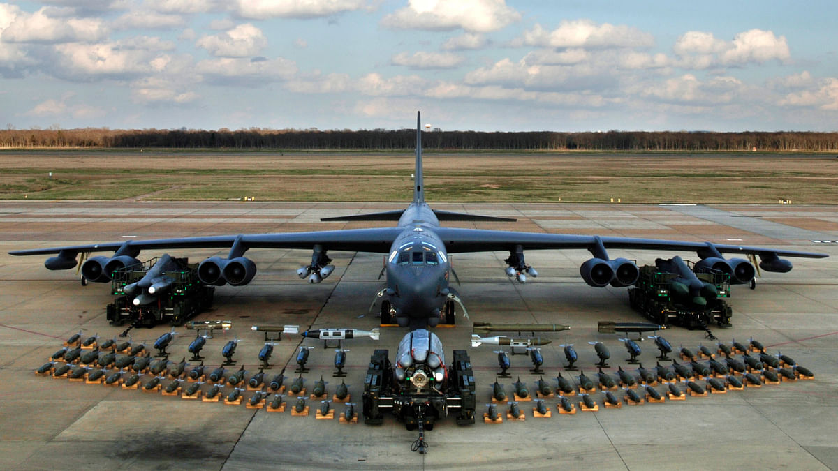 "Boeing B-52 Stratofortress, Bomber Aircraft. (Photo: <a href=""https://en.wikipedia.org/wiki/Boeing_B-52_Stratofortress"">Wikipiedia</a>)"