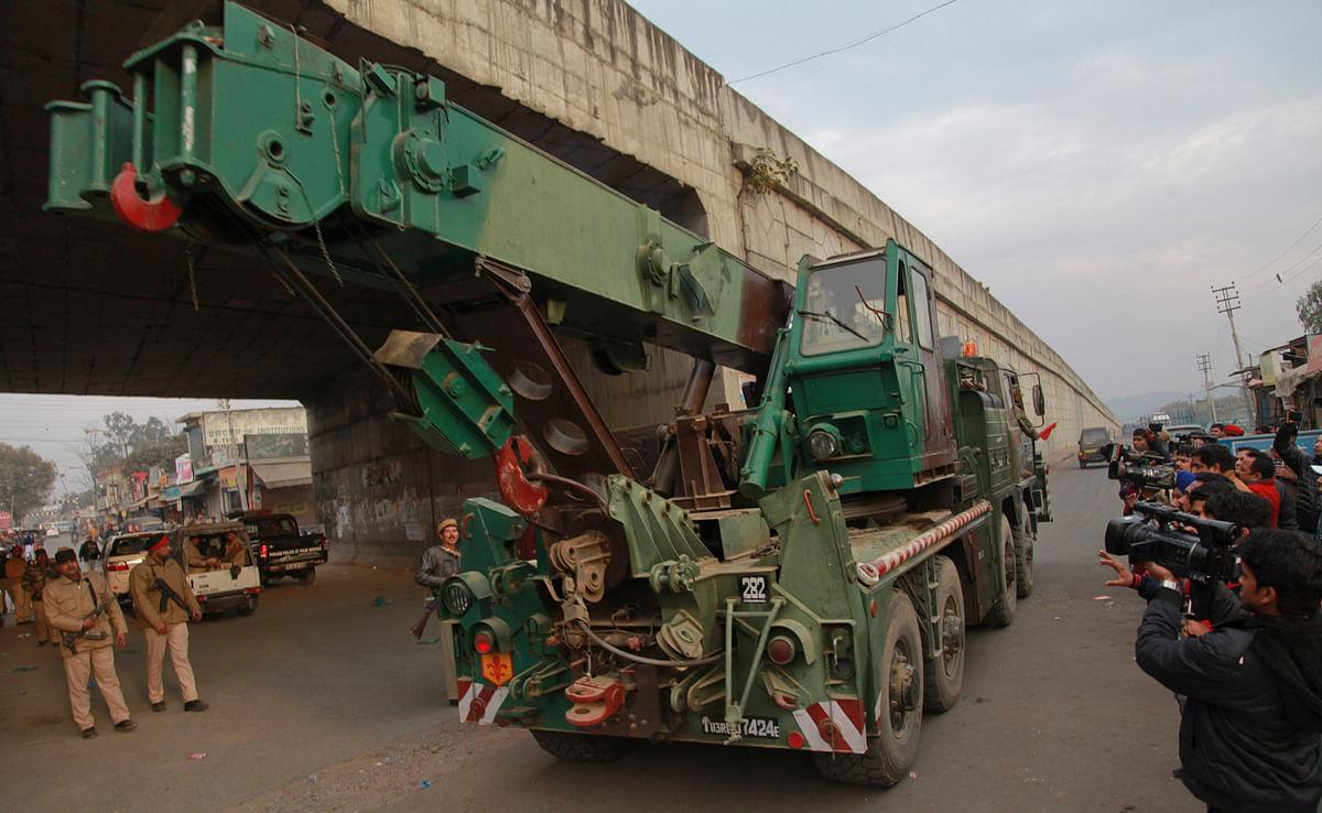 A military truck at the Pathankot Air Force Base. (Photo: AP)