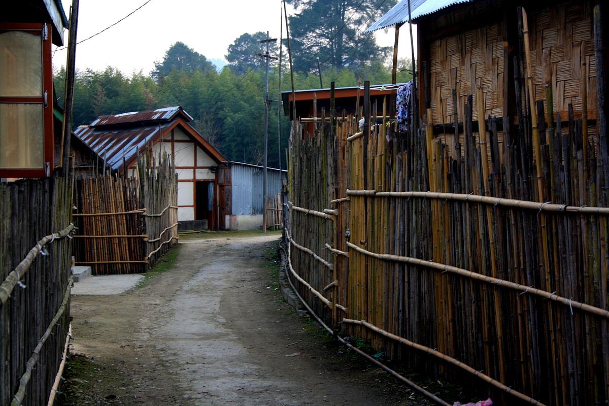 Walking through a village. (Photo Courtesy: Kushal Chowdhury)