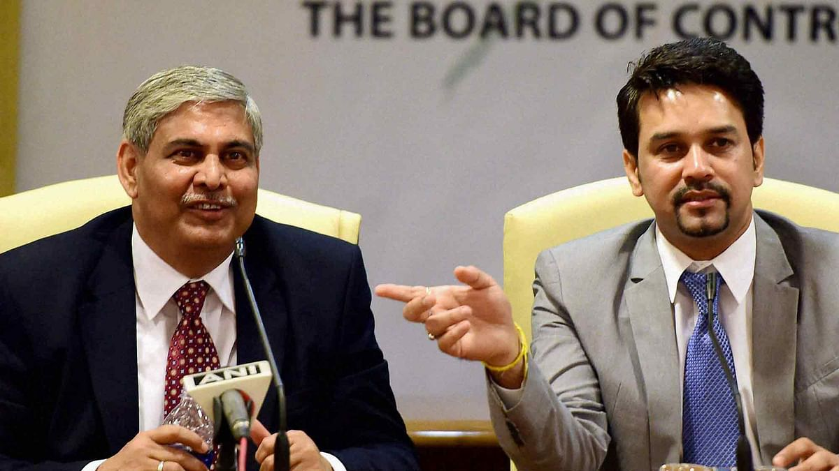 BCCI President Shashank Manohar and Secretary Anurag Thakur could both see their powers diminished if the recommendations of the Lodha Committee are implemented by the BCCI. (Photo: PTI)
