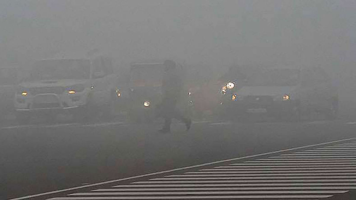 A foggy morning in Delhi. (Photo: PTI)