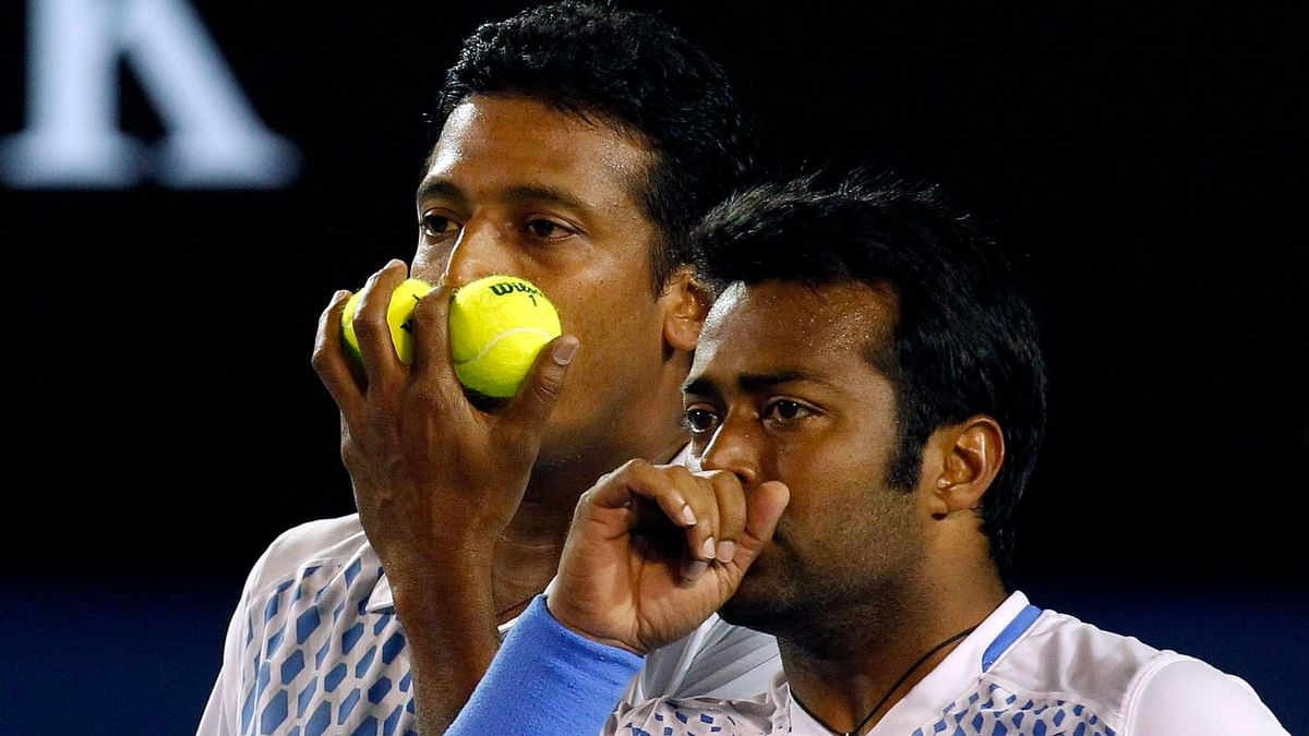 While Leander Paes is out of the men's doubles draw at the Australian Open, Mahesh Bhupathi won his opener in his Grand Slam comeback. (Photo: Reuters)