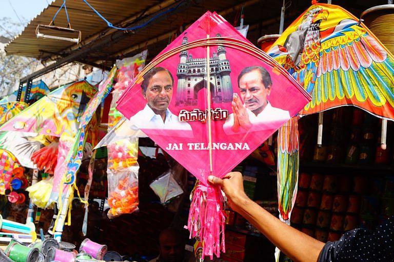 Pink KCR kites. (Photo Courtesy: The News Minute)