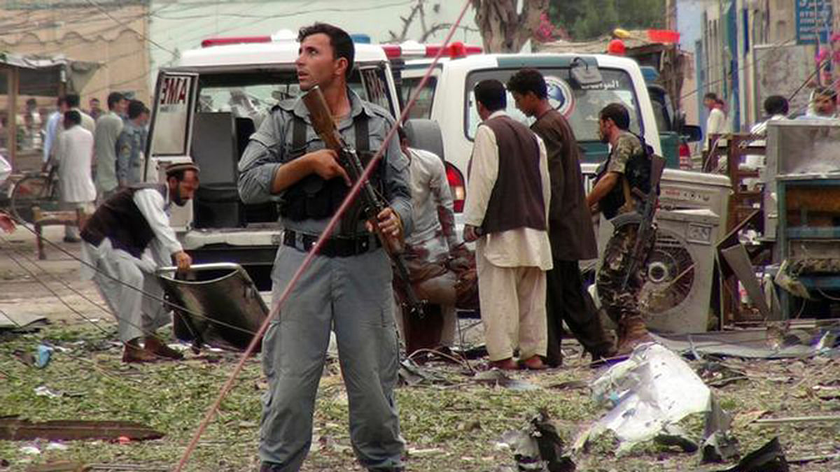 File image of the bomb blast near the Indian consulate in the eastern Afghan city of Jalalabad in 2013 (Photo: AP)