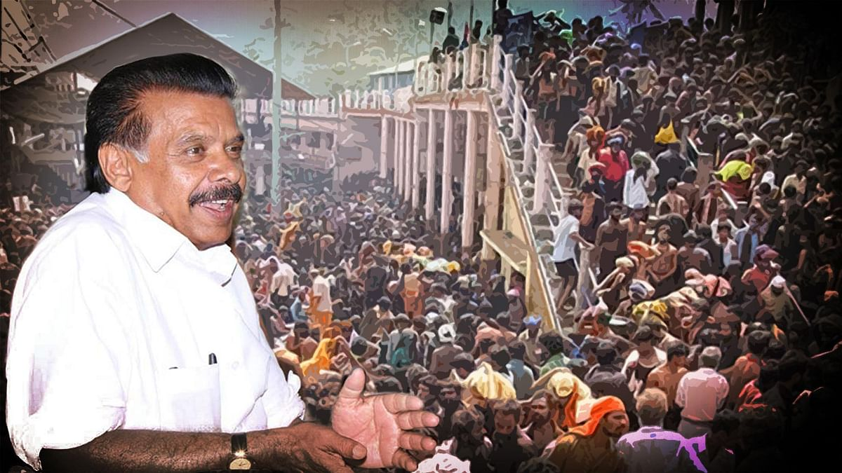 The Supreme Court has questioned as to why can't women be allowed to enter Sabarimala. (Photo: <b>The Quint</b>)