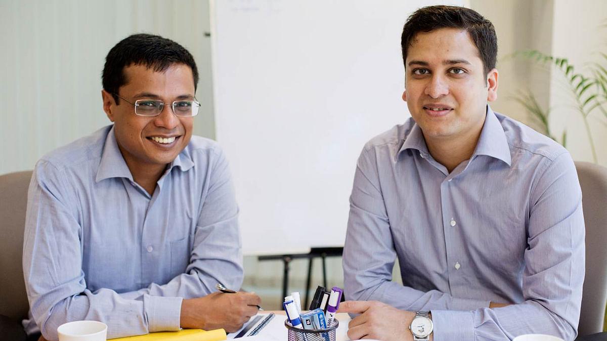 Flipkart co-founders Sachin Bansal (left) and Binny Bansal (right).