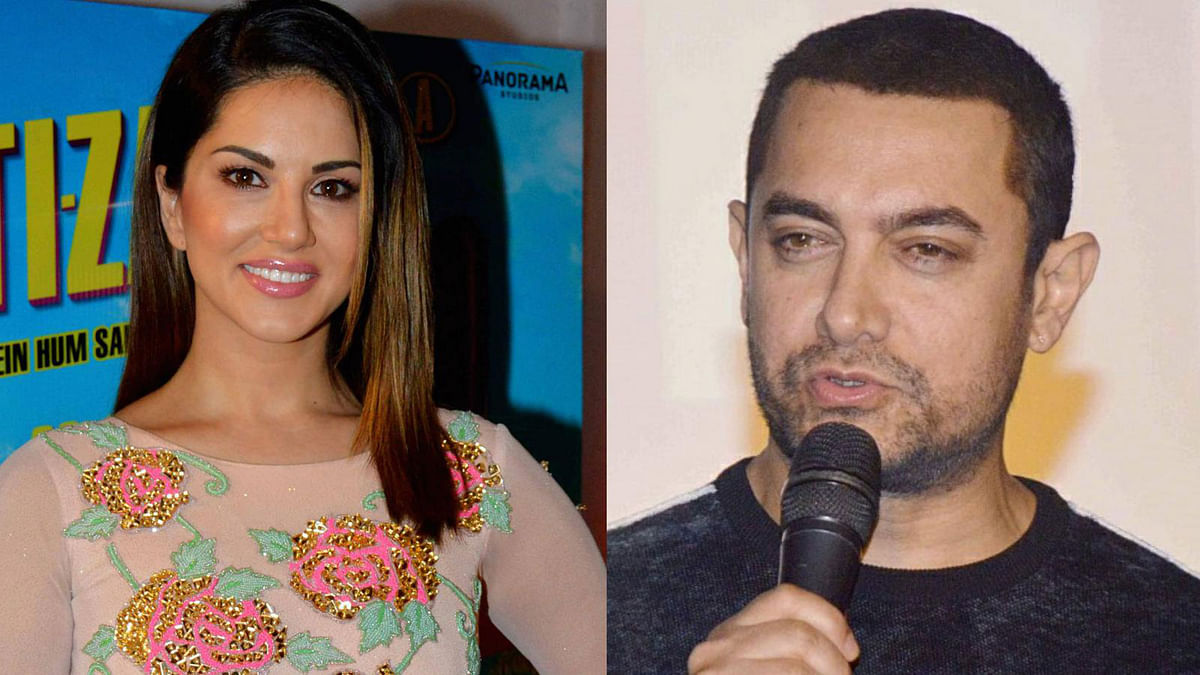 Aamir Khan tweets supporting Sunny Leone (Photos: Yogen Shah)