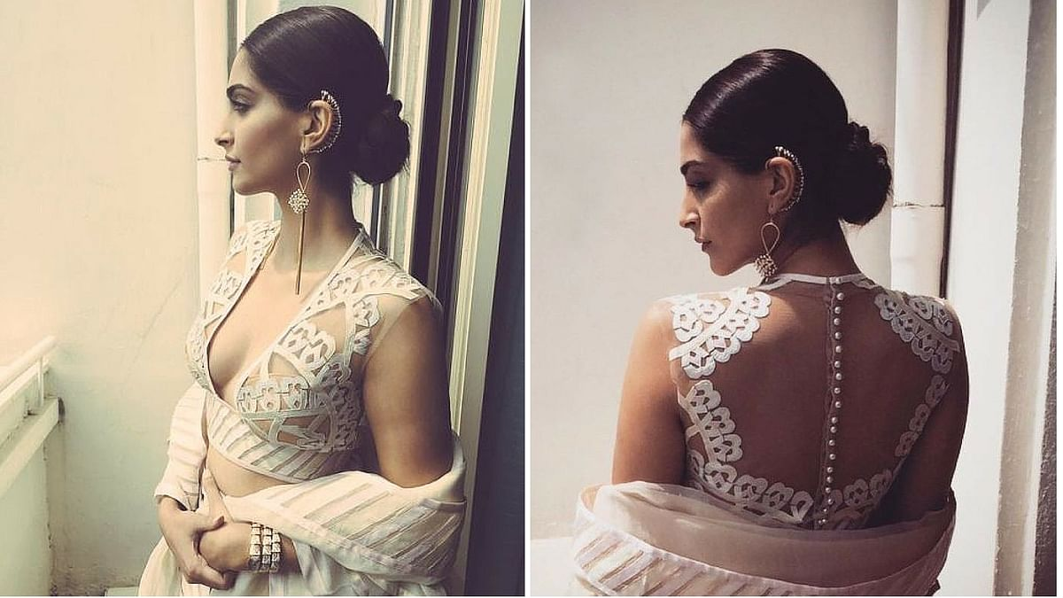 Sonam Kapoor shows us how fashionable the ear cuff can look. (Photo Courtesy: Pinterest)
