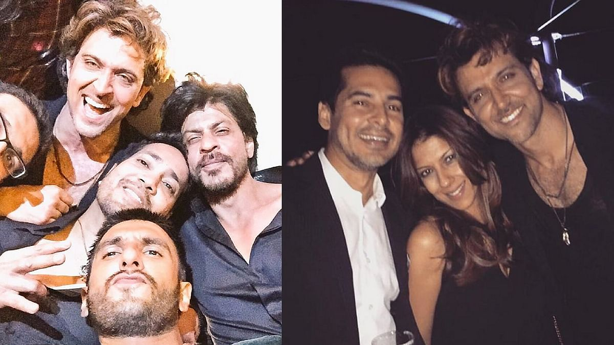 Hrithik Roshan with his gang on his Birthday (Photo: Twitter/@iHrithik)
