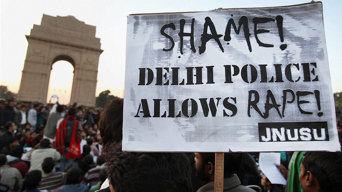 File image of a protest organised against molestation and abuse in Delhi.