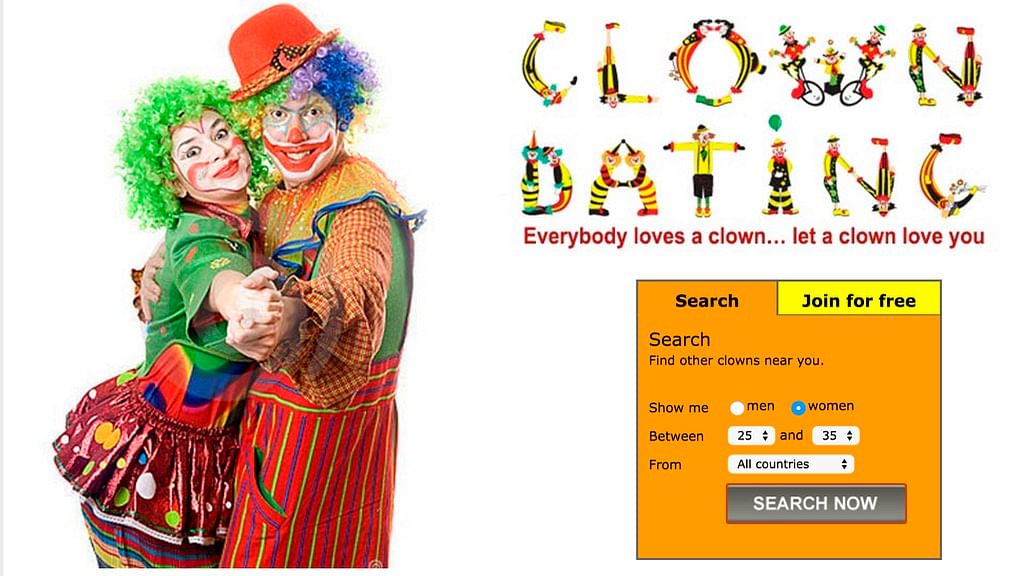 "This exists. (Photo: <a href=""http://www.clowndating.com/"">Clown Dating</a>)"