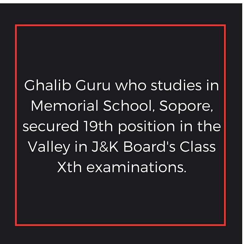 For Afzal Guru's Son, Scoring 95% in Class Xth is Just One Hurdle
