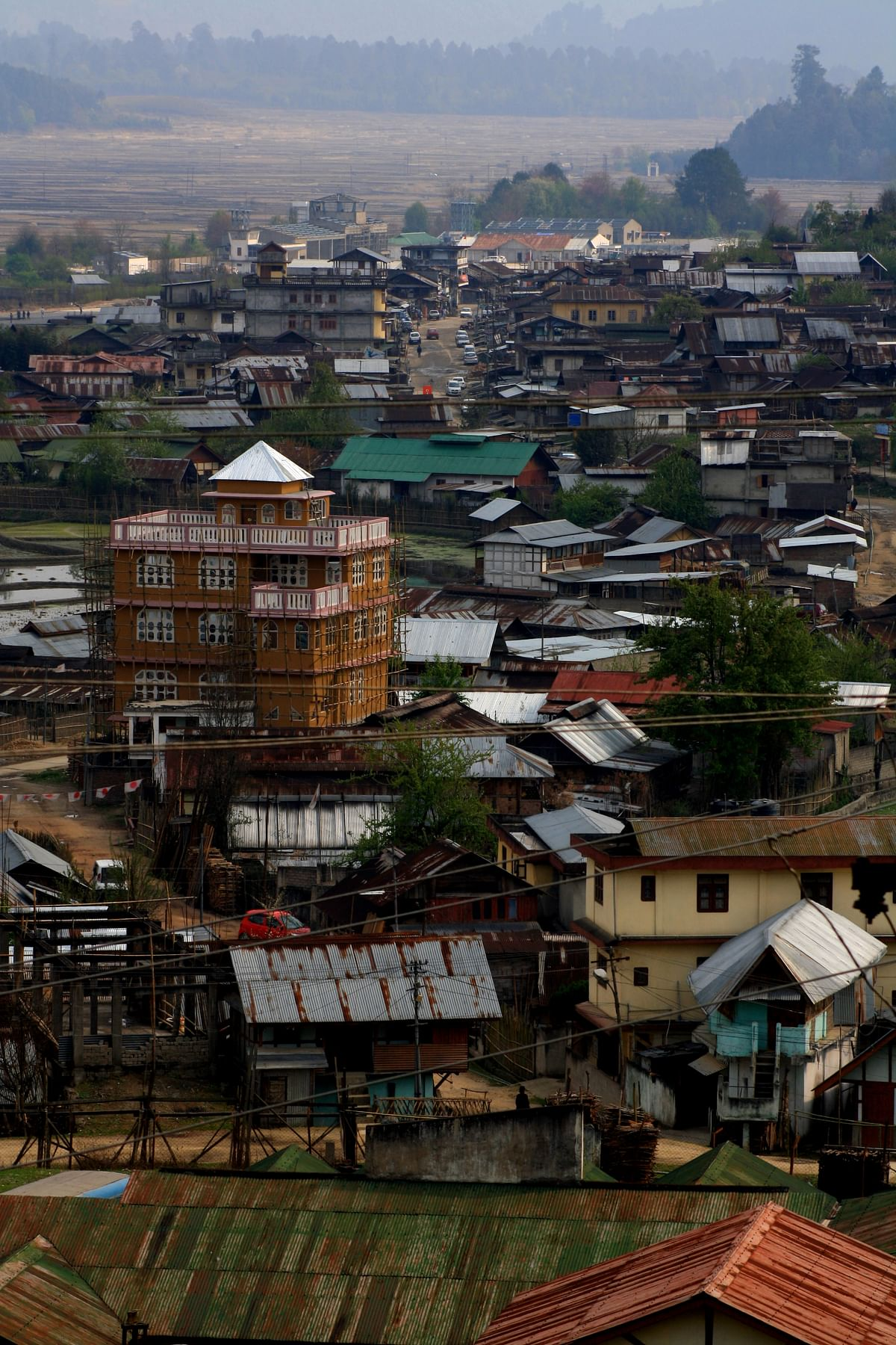 A picture of Ziro, the old town – viewed at an elevation. (Photo Courtesy: Kushal Chowdhury)