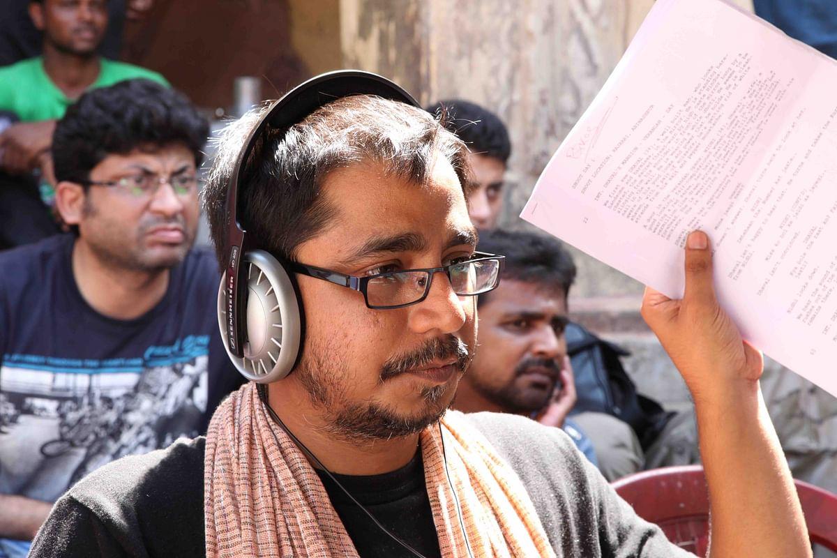 Bikas Ranjan Mishra on the sets of <i>Chauranga</i>