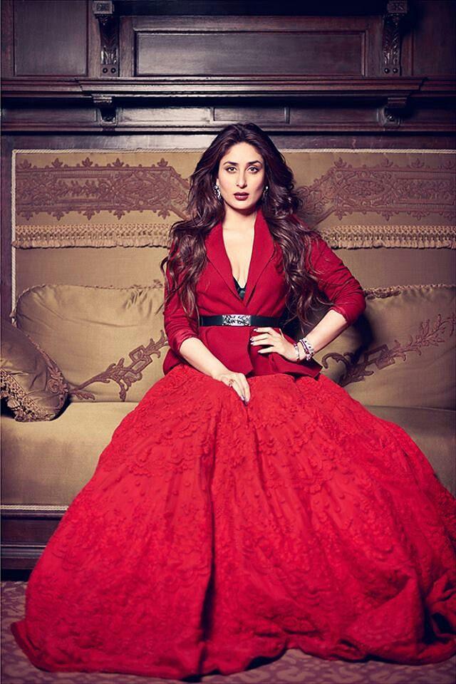 "Kareena Kapoor Khan looks ravishing in a  chilli red dress (Photo: <a href=""https://in.pinterest.com/pin/447404544205780193/"">Pinterest/Anagha Shinde</a>)"