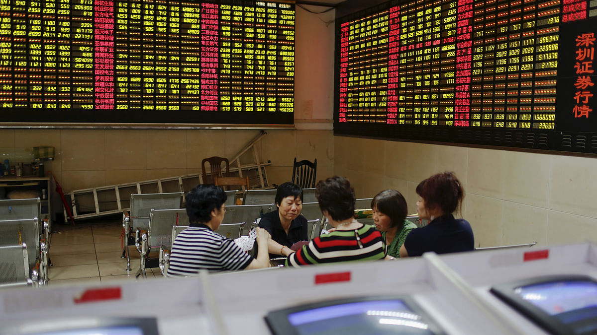 The Shanghai Composite index was at the lowest level in nearly three months. (Photo: Reuters)