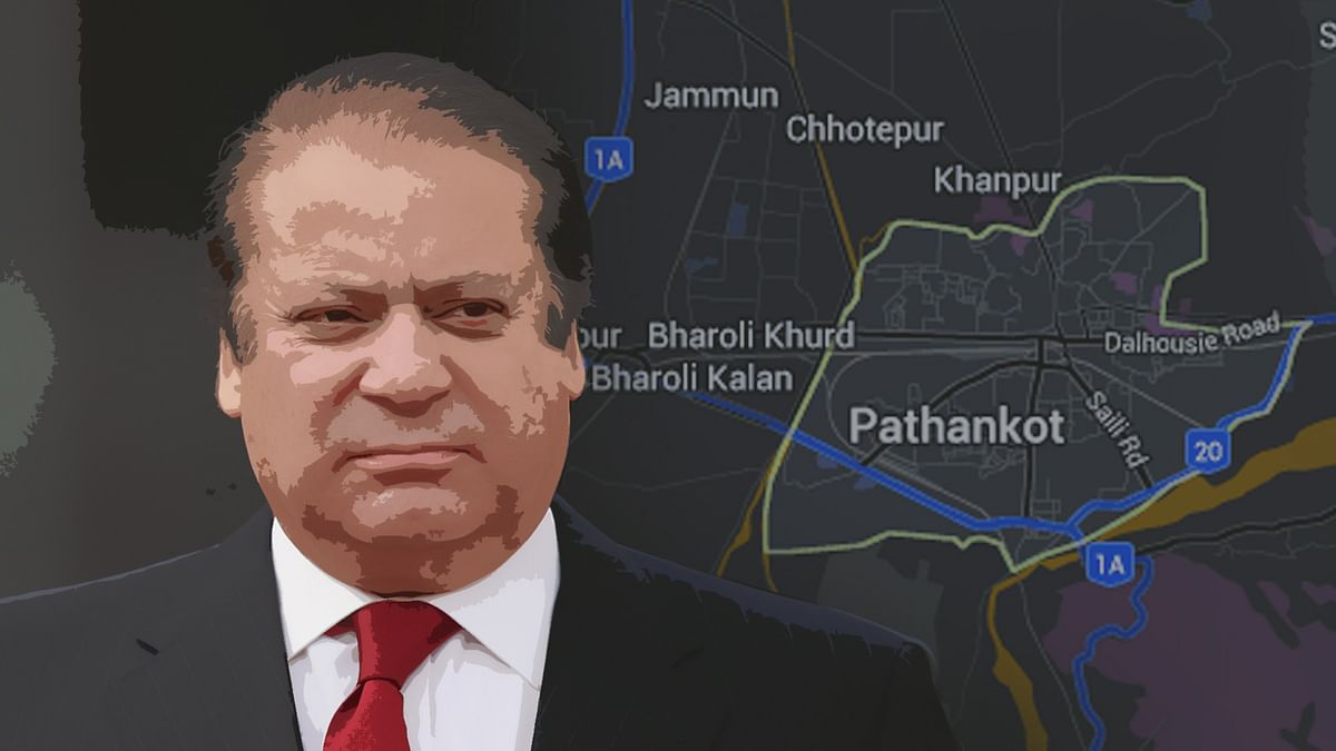 Nawaz Sharif's posture and his promptness in speaking to the Indian prime minister clearly give out the tension between him and  the Pakistani Army. (Photo: <b>The Quint</b>)