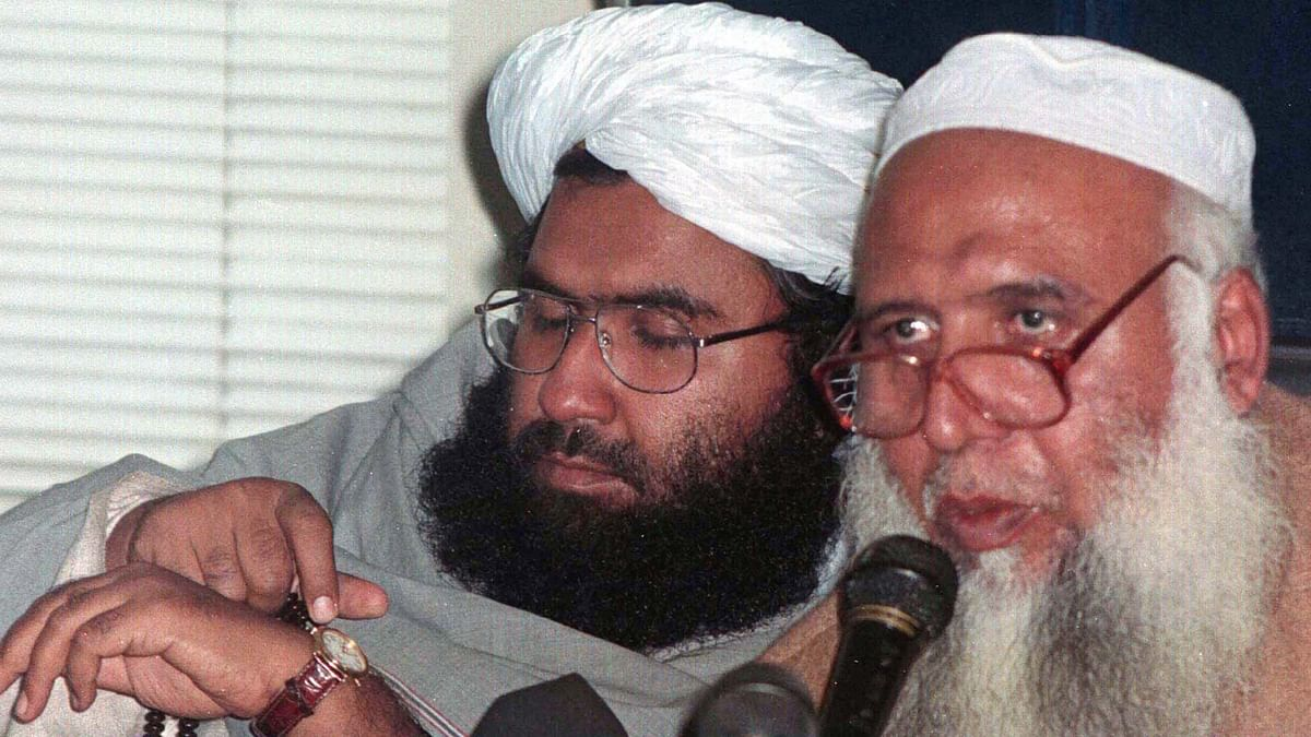 File photo of Pakistani cleric and Jaish-e-Mohammad Maulana, Masood Azhar (left).