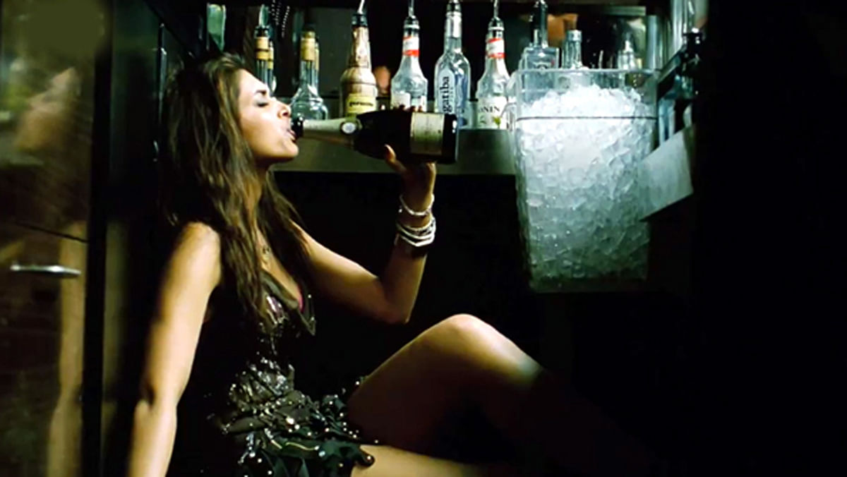 Deepika Padukone's character in <i>Cocktail</i> was 'punished' for practising a lifestyle which included drinking. (Photo Courtesy: YouTube screenshot)