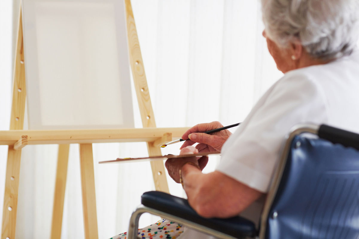 The placement of paintings has also been designed to make it wheelchair-friendly. (Photo: iStock)