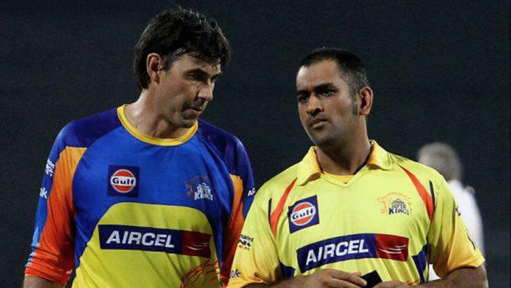 Stephen Fleming (left) and MS Dhoni (right). (Photo Courtesy: PTI)