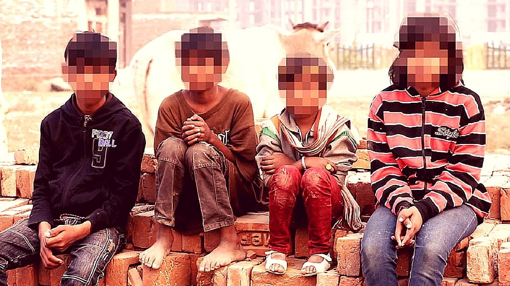 Suraj, Rohan, Prapti and Jyoti were among the 30 children rescued from the two illegal shelter homes in Greater Noida and Meerut. (Photo: <b>The Quint</b>)