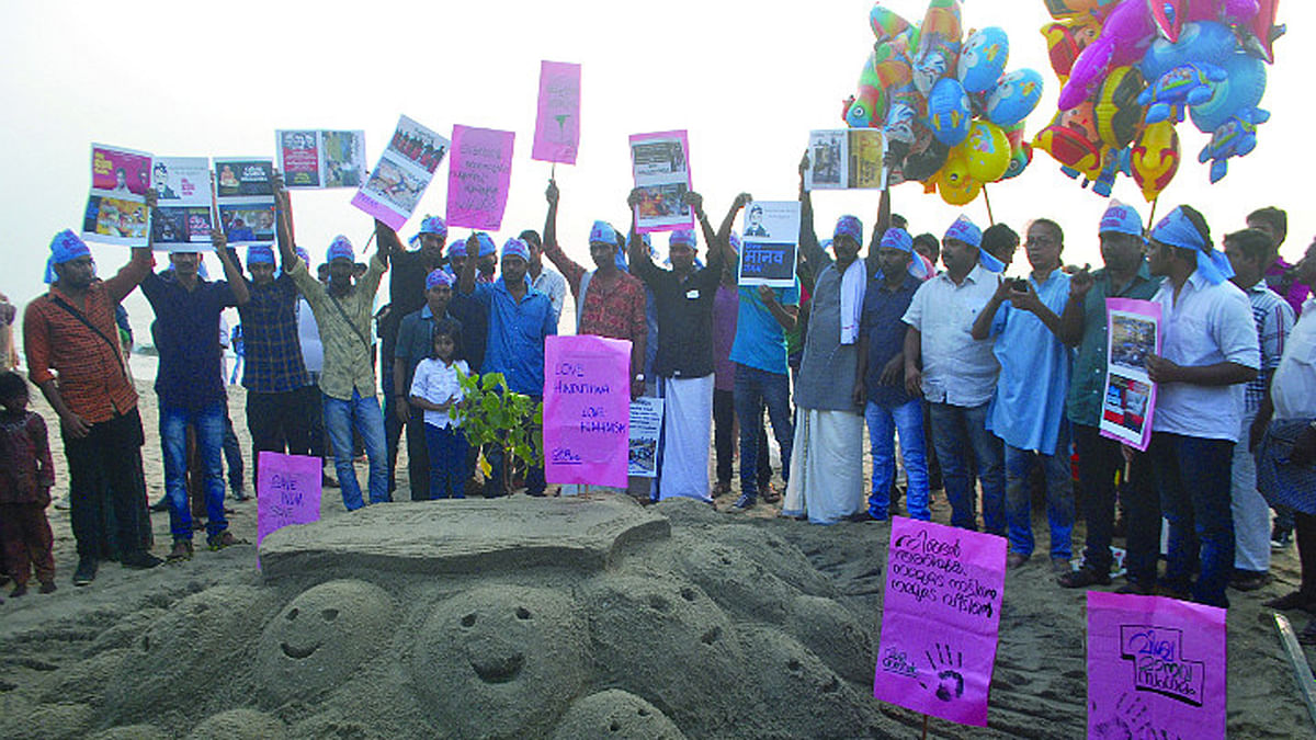 A Protest Against 'Rising Fascism' by the Right Wing in Kerala