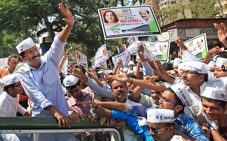 Arvind Kejriwal during his election campaign. (Photo: PTI)