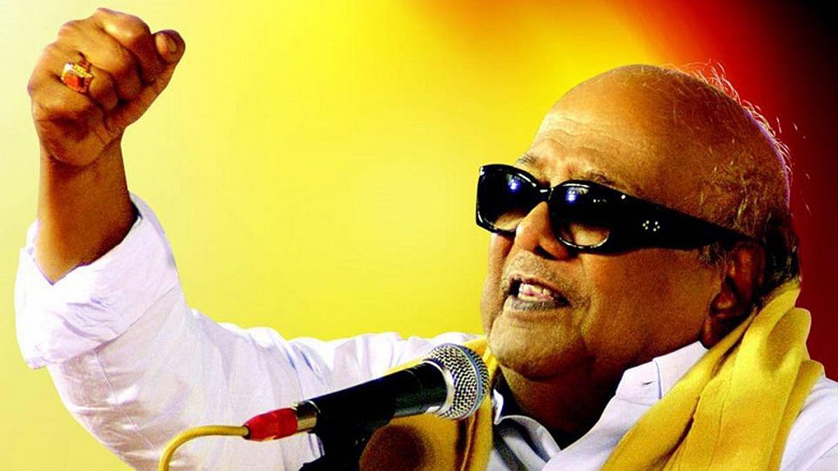 DMK chief M Karunanidhi.(Photo Courtesy: The News Minute)