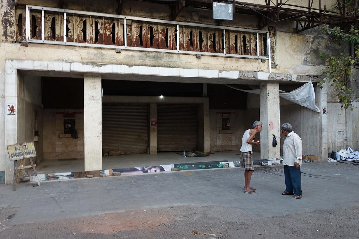 The few surviving offices in the Naaz building are in a run-down condition today (Photo: Khalid Mohamed)